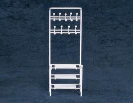 DOLLHOUSE MINIATURES SMALL WHITE Shelf Unit #EIWF566 - $17.81