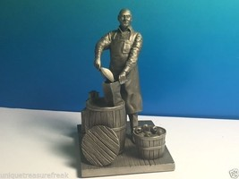 Franklin Mint American People Pewter Figurine Statue 1977 Ron Hinote Shop Keeper - $24.75