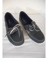 Size 10M Womens Navy Boat shoe style slip on by Jasmin - $20.78