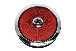 HIGH FLOW REPLACEMENT AIR CLEANER ASSEMBLY W/ FLOW-THRU LID AIR FILTER RED