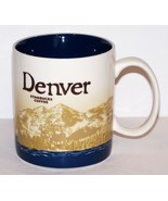 FABULOUS 2011 STARBUCKS COFFEE DENVER 16 OZ MUG WITH DARK BLUE INTERIOR - $23.55