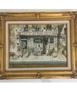 "Original Robert Scott Signed Oil Painting Paris Street Scene 17 X 21"" Pa... - $396.00"