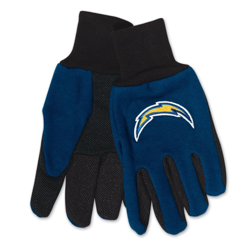 NFL Sport Utility Work Gloves with Grippy Rubber Palm (San Diego Chargers)