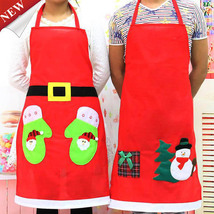 Christmas Chef Apron Household Cleaning Hostess Gift & Kitchen, Baking A... - $7.00