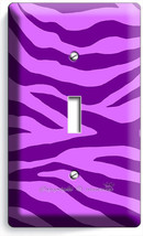 Purple Zebra Animal Print Stripes Light 1 Gang Switch Wall Plate Room Home Decor - $10.99