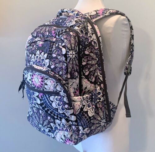 Vera Bradley Essential Large Backpack Laptop Bag ~ Mimosa Medallion Pattern NWT