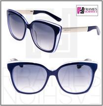 JIMMY CHOO Octavia Blue Pearl Gold Gradient Metal Square Sunglasses Octavia/S - $259.38