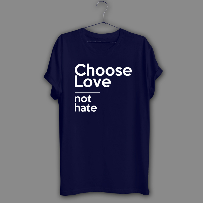 Choose Love Black T-Shirt equality Navy Shirt equal rights human rights Tee