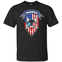 Meowica T-Shirt Funny Patriotic Cat American Flag - ₨1,622.97 INR+