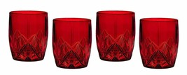 Marquis by Waterford Brookside Double Old Fashioned Glasses, Red, Set of 4 - $59.39