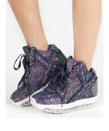 YRU Qozmo Aiire Purple Glitter  Punk Emo Goth Rocker Adult Womens Sneake... - $110.00