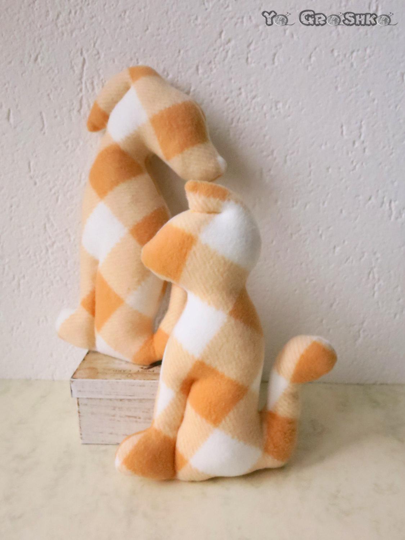 Friends - Modern Decorative Pillows / cat and dog silhouette / decoration/ decor