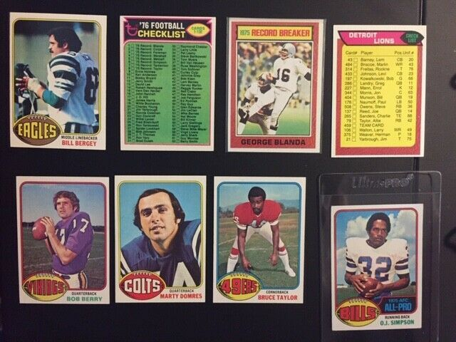 1976 Topps Football Complete Set NR-MINT Condition With PSA 4 Walter Payton RC