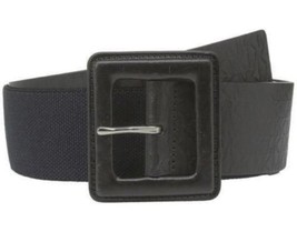 Michael Kors Signature MK Monogram Embossed Logo Panel Leather Belt, Lar... - $50.00