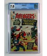 1965 Marvel Comics Avengers 15 CGC 7.0: Kirby Captain America,Iron Man,T... - $296.99