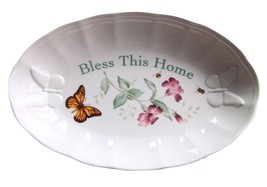 Lenox Butterfly Meadow BLESS THIS HOME Oval Tray Serving Bowl - $27.71
