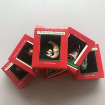 Hallmark Christmas Ornaments Keepsake Miniature 1988 Xmas Santa Lot (6) - $17.32