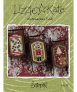 Nutcracker Sleds Snippet S133 christmas cross stitch chart Lizzie Kate  - $8.00