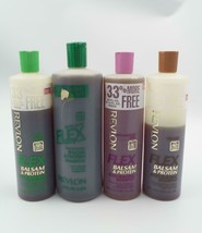 Revlon FLEX Shampoo LOT of 4 Balsam & Protein Extra Body Dry Oily Damage... - $99.99
