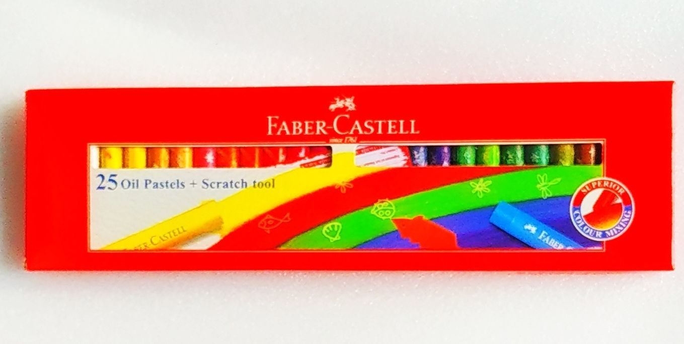 Faber-Castell | 25 Oil Pastels | 60 mm each | Assorted Shades | Colors| FREESHIP
