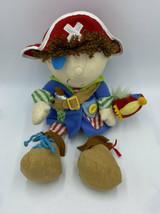 Manhattan Toy Pirate Boy Doll Plush Teach Me Tie Zipper Snap Button Ratt... - $14.99