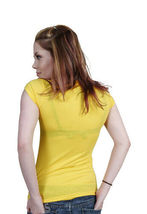 Famous Stars & Straps Womens Juniors Yellow Maria Callas T-Shirt image 3