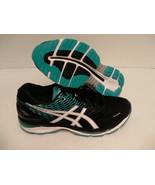 Asics men running shoes gel nimbus 18 black white island blue size 15 us... - $158.35