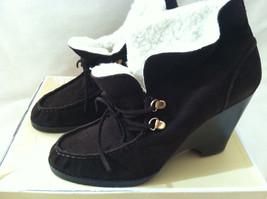 NEW Michael Kors Brown Suede Wendi Desert Wedge Ankle Bootie Heels Size 8.5 M - $97.02