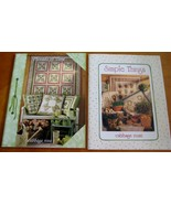 lot 2 Cabbage Rose Quilt quilting Patterns Books Simple things threads o... - $12.38