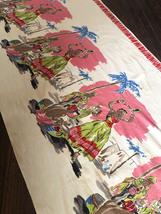 1950's Calypso African Caribbean Novelty Border Print Fabric 4.7 Yards - $200.00
