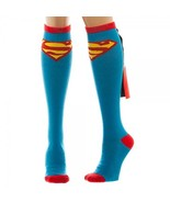 Superman Women's Knee High Shiny Cape Socks Blue - $11.98