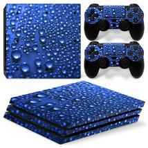 Sony PS4 PRO Blue Rain Console & 2 Controllers Decal Vinyl Skin Wrap Sticker - $14.82