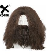 Halloween Hagrid Costume Props Harry Potter Cosplay Costume Brown Long C... - $39.34