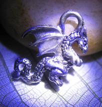 Haunted Freebie 3x Asian Luck Dragon Magick Silver Charm Witch Cassia4 - $0.00