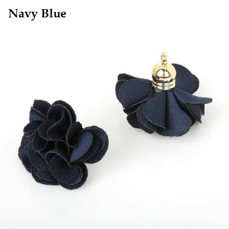 [DIY Flower] 10pcs Fabric Carnation Tassel Earrings Jewelry Handmade Keychain