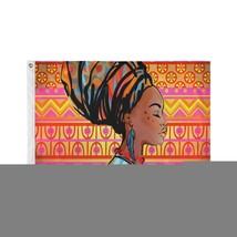 Large Decorative Flag African Beautiful Drawn Woman Portrait Custom Decor Flags - $24.99