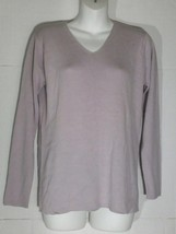 Vintage Gap V-Neck Sweater Extra Small XS Lilac Cotton Rayon Ribbed NWT - $29.69