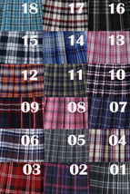 Red White Black Pleated Plaid Skirt School Style Short Pleated Plaid Skirts image 7
