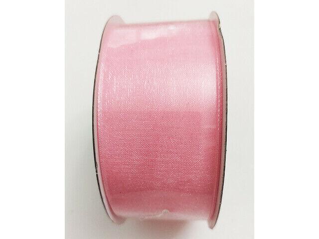 "The Ribbon Boutique Light Pink Organza Ribbon, 1.5"" x 10 Yards"