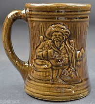 "McCoy Pottery Buccaneer Pattern Beer Mug 4.875"" Tall Decorative Collectible - $12.99"