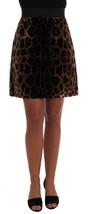 Dolce & Gabbana Brown Leopard Print Silk A-Line Skirt - $1,197.76