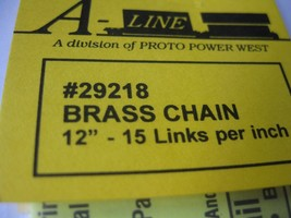 """A-Line #29218 Brass Chain 12"""" - 15 Links per inch image 2"""