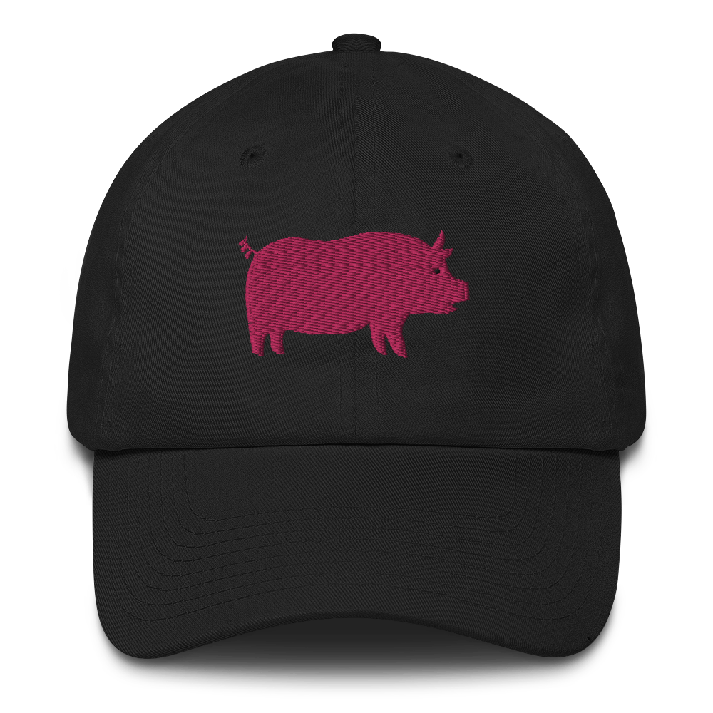 Pro pig hat / pig hat  / made in USA / Cotton Cap