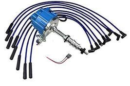 A-Team Performance HEI Distributor Blue Cap and 8mm Silicone Spark Plug Wires Ki