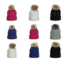 Surprizeshop Ladies Cable Winter Golf Bobble Hat. One Size Fits All. - $19.50