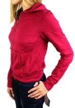 NEW NWT LEVI'S JUNIORS BASIC CLASSIC COTTON ATHLETIC HOODIE JACKET SWEATER RED image 3