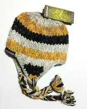 LAUDROMAT Womens Wool Winter Hat Beanie Cap Multi Colored Hand Crafted  ... - $41.58