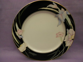 Mikasa Fine China Charisma Black Salad Plate L9050 Made In Japan Gold Trim  - $5.20