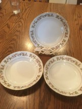 SET OF 3 SOUP/CEREAL BOWLS ACSONS DIAMOND CHINA AUTUMNS LEAVES - $20.75