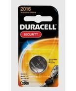 DURACELL 2016 Button Coin Battery Lithium 3 volt DL2016 CR2016 Security ... - $5.55